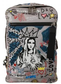 Dolce & Gabbana Sicily Madonna Print Backpack