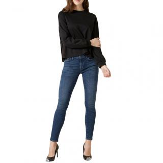 7 For All Mankind Blue Illusion Skinny Jeans