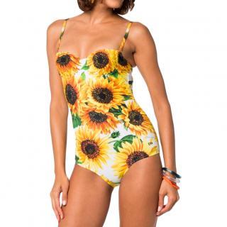 Dolce & Gabbana Sunflower Print Balconette Bikini