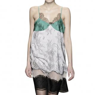 Stella McCartney Colourblock Lace Cami Dress