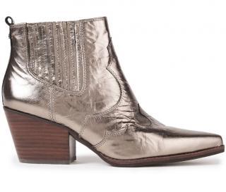 Sam Edelman Metallic Western Ankle Boots