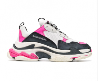 Balenciaga Neon Pink Triple S Sneakers