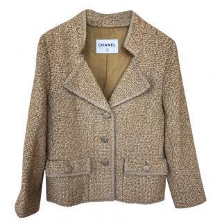 Chanel Beige Tweed Paris/Versailles Jacket