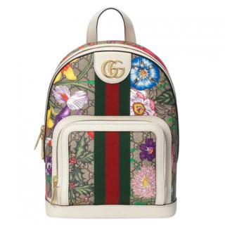 Gucci Supreme GG Ophidia Flora Backpack