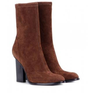 Alexander Wang Brown Stretch Suede Gia Boots
