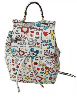 Dolce & Gabbana Sicily Graffiti Print Backpack