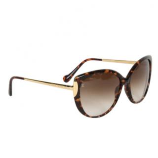 Louis Vuitton Z0756W Garance Tortoiseshell Sunglasses