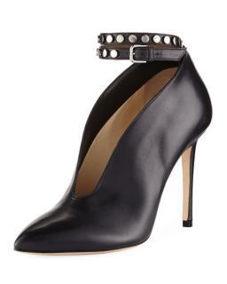 Jimmy Choo black leather Lark booties