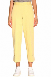 Polo Ralph Lauren Yellow Cropped Tailored Pants