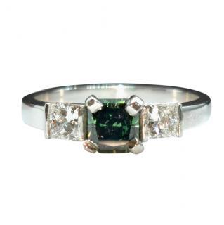Bespoke David Simmons Henig Diamond & White Diamond Trilogy Ring
