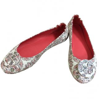 Tory Burch Hicks Garden Minnie Ballerinas