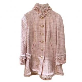 Exclusive Paris/Versailles Tweed Ruffle Detail Longline Jacket
