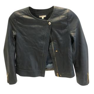 Chloe Black Cropped Leather Jacket
