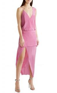 Mason by Michelle Mason Pink Silk Asymmetric Dress
