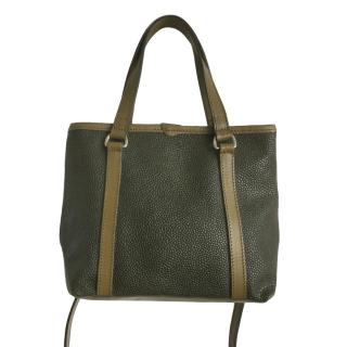 Mulberry Vintage Scotchgrain Olive Tote Bag