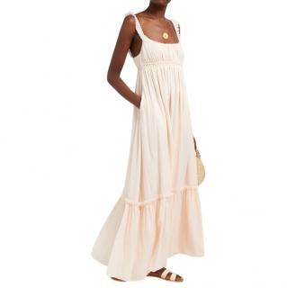Loup Charmant Sonnet gathered organic-cotton maxi dress