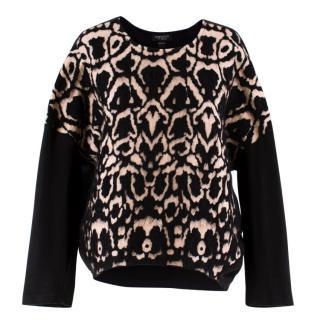 Giambattista Valli Leopard Printed Wool-Blend Jumper
