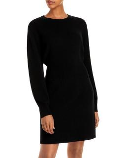 Theory thick ribbed merino wool jumper dress.