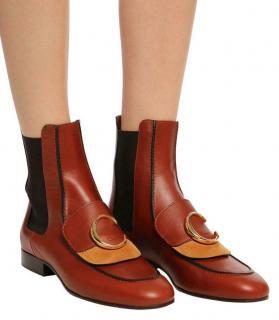 Chloe Calfskin Runway C Flat Chelsea Boots
