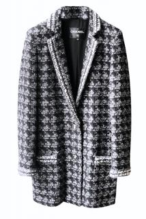 Chanel 2020 Black & Grey Tweed Jacket/Coat