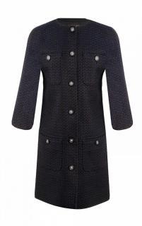 Chanel Paris/Edinburgh Black & Navy Rweed Coat