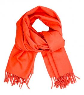 Celine Orange Cashmere Scarf
