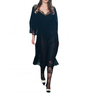 Chanel Paris-Rome black silk camisole dress and jacket
