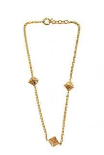 John Richmond pyramid charm necklace