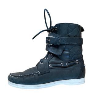Balenciaga black leather high tops - sold out