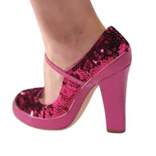 Marc Jacobs Vintage Fuchsia Sequin Mary Janes