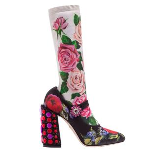 Dolce & Gabbana Mary Jane Socks Boots 105