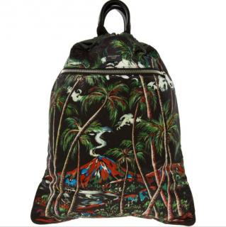 Dolce & Gabbana Jungle Print Drawstring Backpack