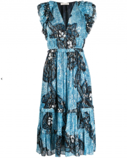Ulla Johnson Akira abstract print midi dress
