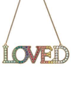 Gucci Loved crystal-embellished necklace