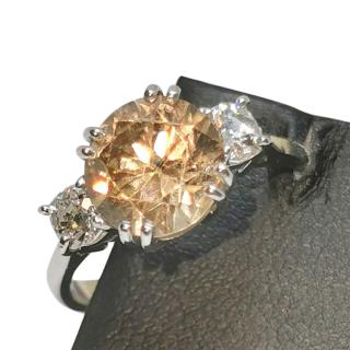 David Simmons diamond and zircon ring