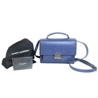 Saint Laurent Denim Blue Bellechasse Top Handle Shoulder Bag