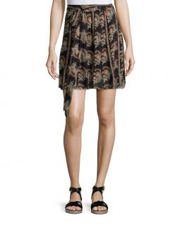 Isabel Marant printed chiffon wrap mini skirt