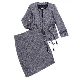 Chanel Lesage Tweed Braided Trim Jacket & Skirt