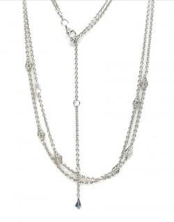 William & Son double strand diamond necklace