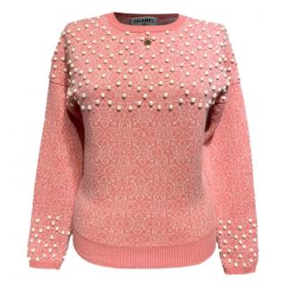 Chanel Paris Bombay Karl Lagerfeld gripoix stone embellished jumper