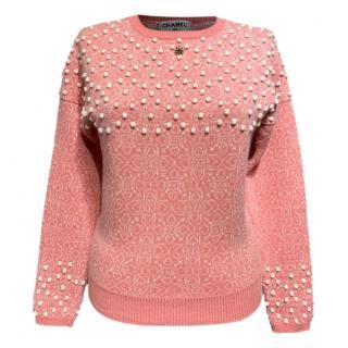 Chanel Paris Bombay Karl Lagerfeld gripoix stone embellished jumper