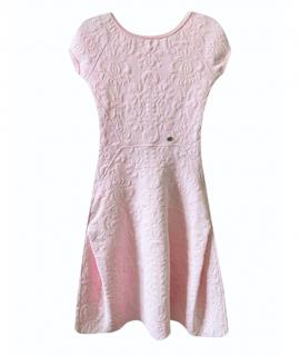 Chanel Pale Pink Jacquard Paris/Versailles Skater Dress