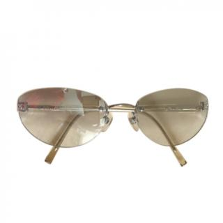 Chanel Vintage Oval Clear CC Sunglasses