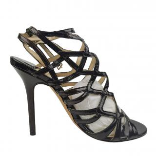 Jimmy Choo Patent Leather Cage Sandals