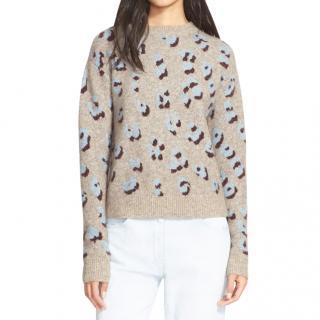 3.1 Phillip Lim Leopard Print Wool Blend Jumper