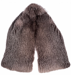 FurbySD Natural Fox Fur Knit Stole