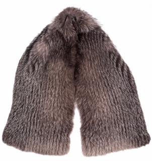 FurbySD Natural Fox Fur Knit Stole