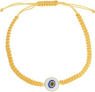 Eye M by Ileana Makri Yellow Beaded Evil Eye Pendant Bracelet