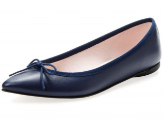 Repetto Navy Brigitte Pointed Ballerinas