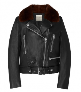 Each x Other Leather Perfecto jacket with Detachable Shearling Collar